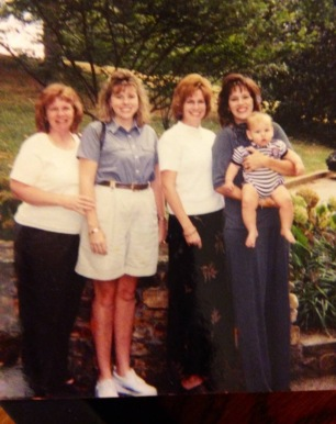 old pic of  mom with us