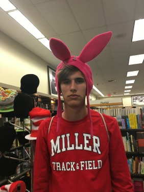 Travis with bunny ears