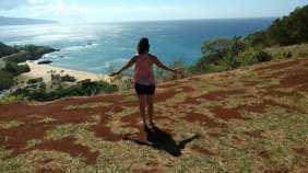 me in Hawaii overlooking shoreline