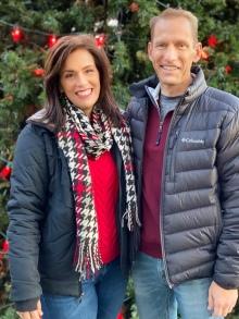 Jeff and Me at Christmas
