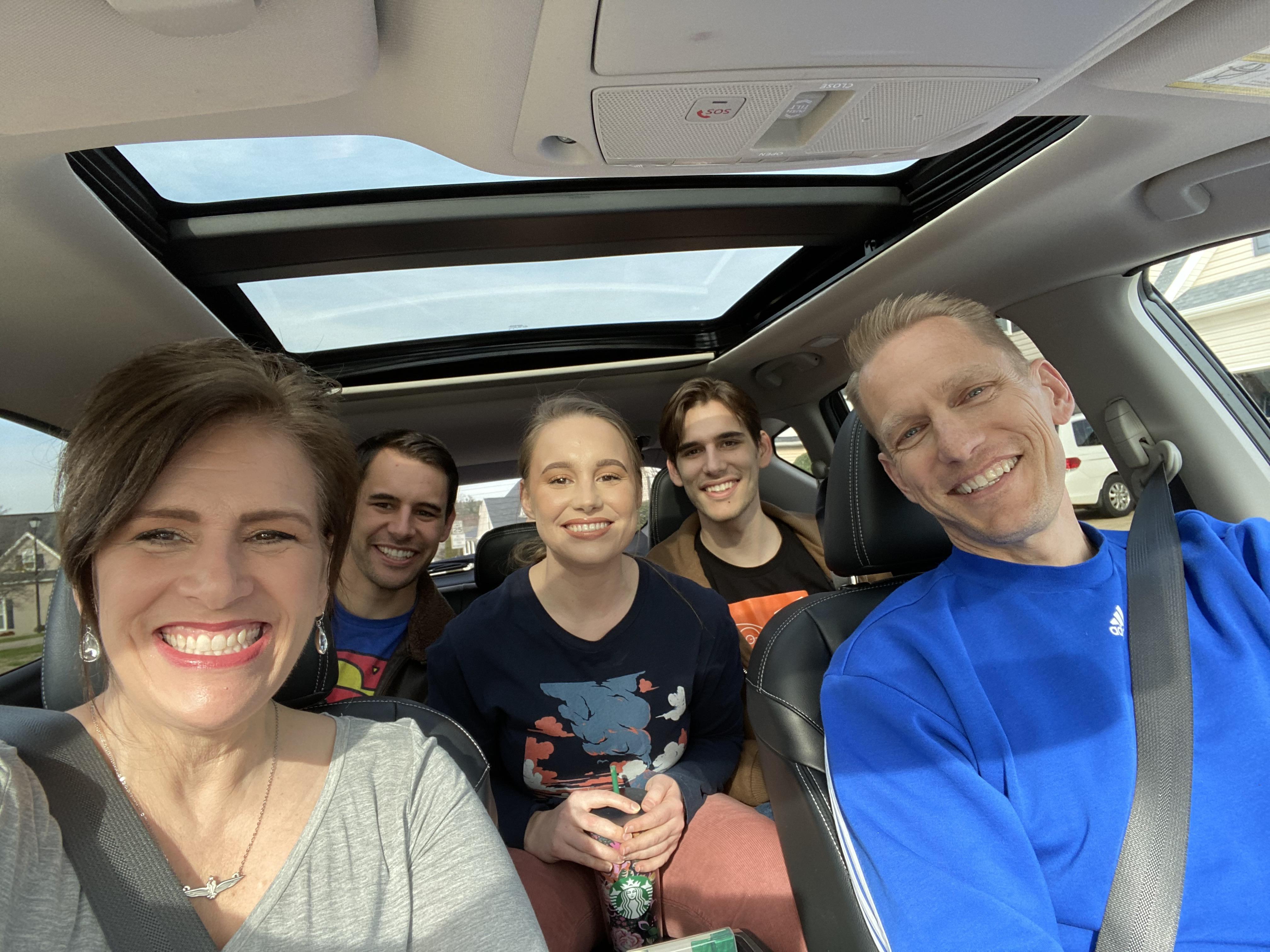 family pic in car